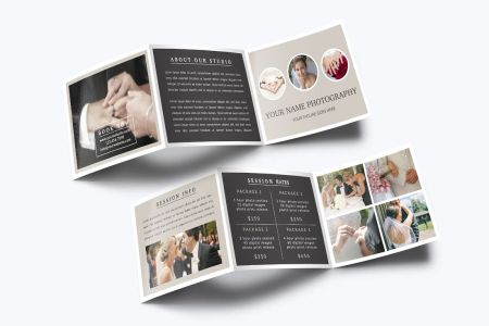 Photography Trifold Brochure Template Photography Trifold Brochure Template example image 1
