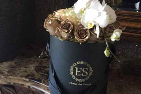 Black and gold flowers arrangements trending artists 2018 white and gold flowers in black vase elizabeth anne designs the white and gold flowers in black vase black gold flowers by la bloom florist bridestory com mightylinksfo