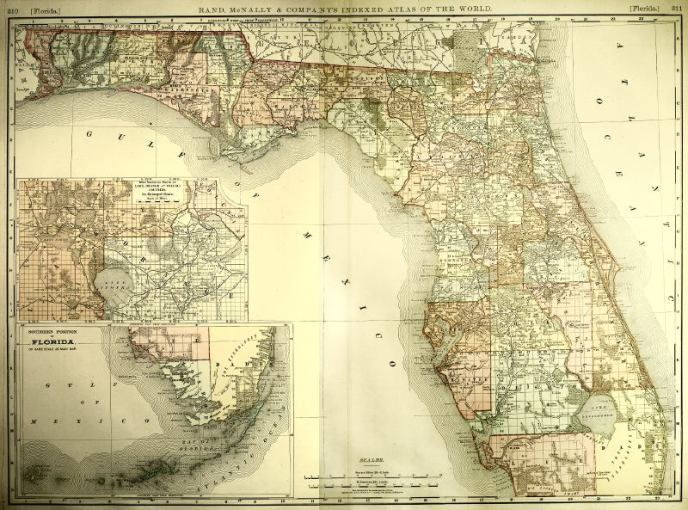 Map of Florida  1800s  III