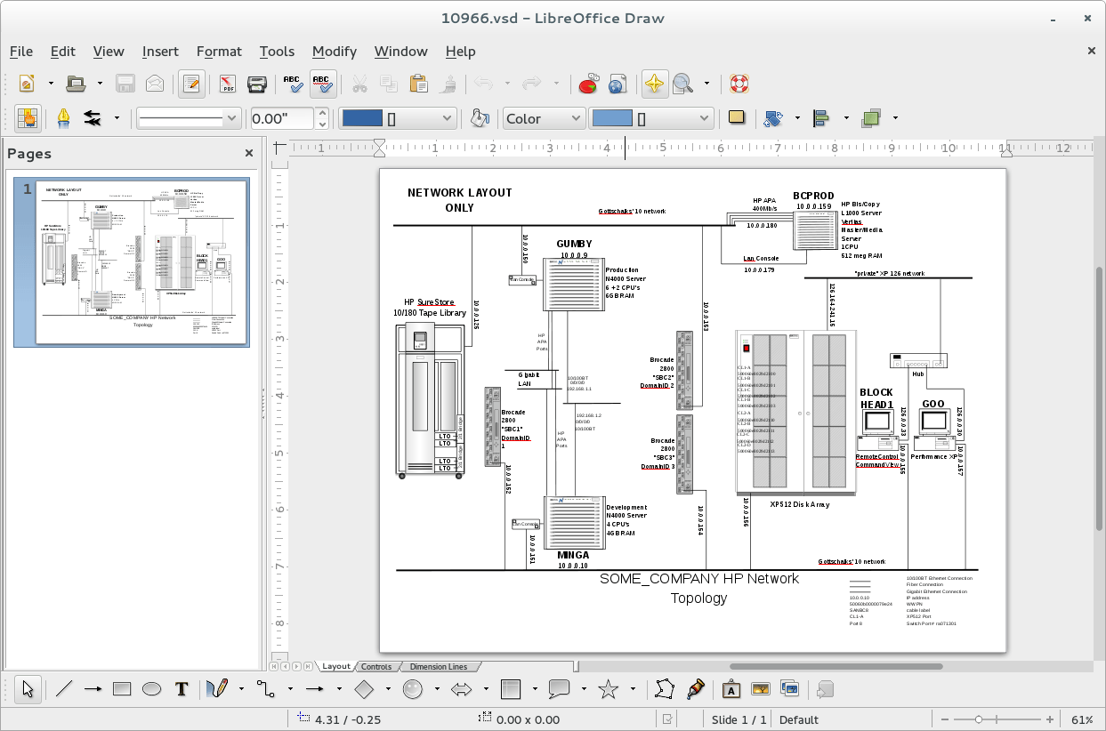 Visio Network Drawings With