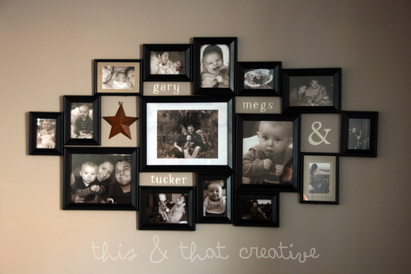Collage Unique Frames Wall Picture