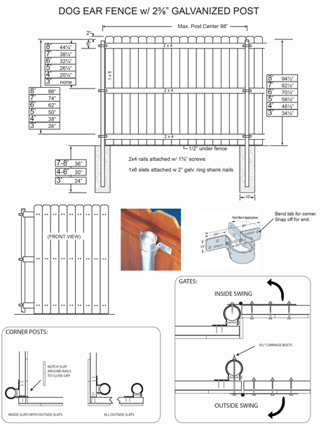 Fence Plans Fence Amp Deck Supply