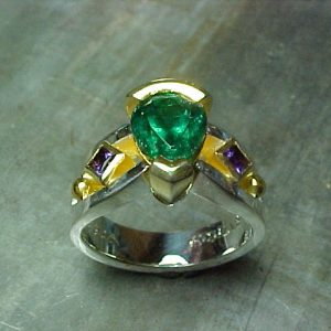 wizard of oz inspired yellow brick road ring