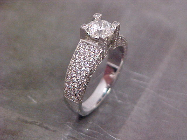 diamond encrusted engagement ring