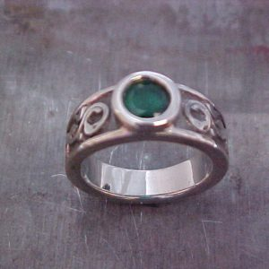 Viking rune engagement ring