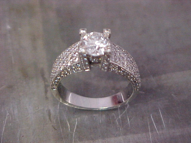 encrusten 19k diamond engagement ring