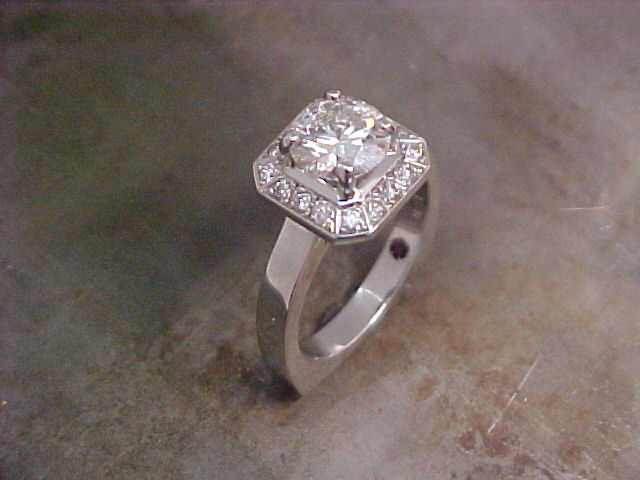 Octagon halo for asscher cut diamond