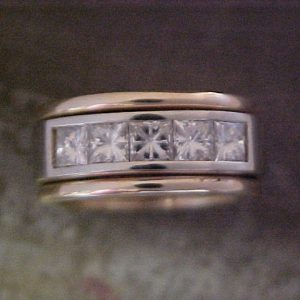 custom diamond cluster wedding band