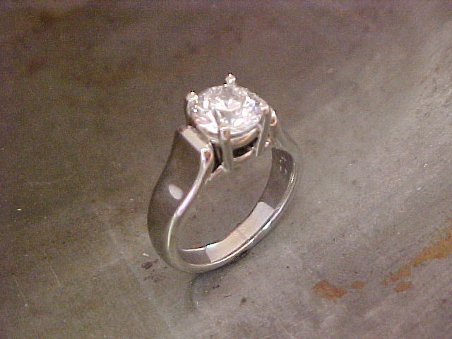 14k white gold custom engagement ring