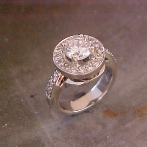 14k engagement ring with halo setting