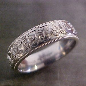 custom engraved intricate wedding band