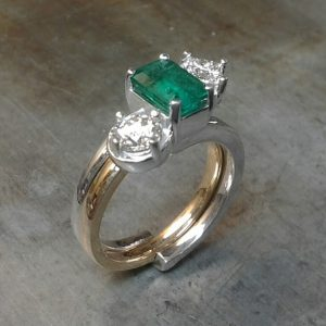 custom gemstone rings emerald