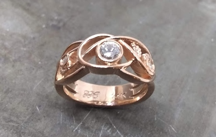 Celtic inspired wedding ring