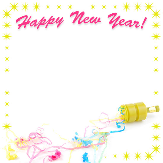 champagne new year party border