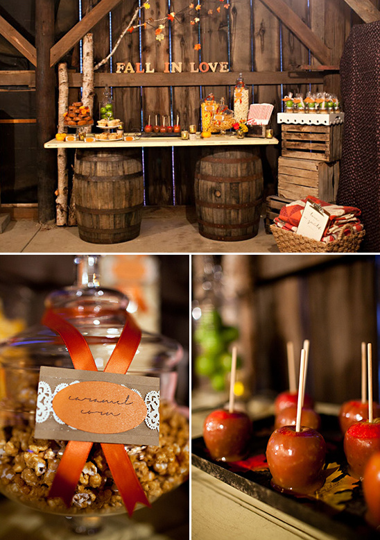 Autumn Wedding Centerpieces Tables