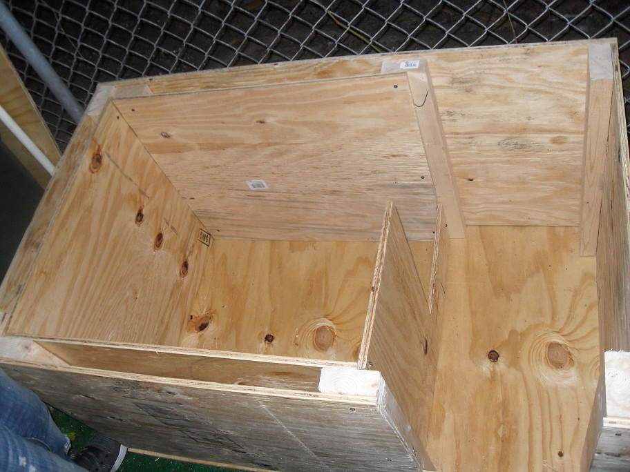 How To Build A Cheap Dog House   DIY and Home Improvement         deliberation and due to the size of my dogs  both are well over 100  pounds  I decided to remove the inner panel and make use of the entire dog  house