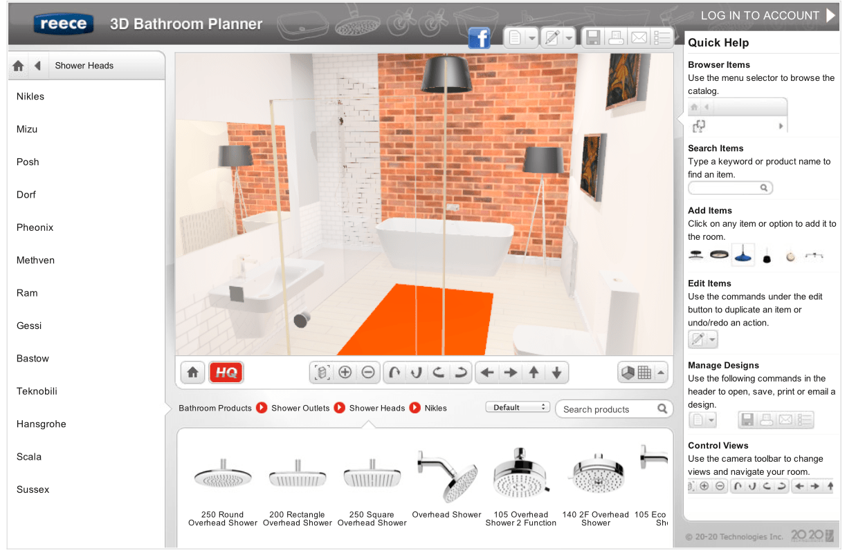 Online Bathroom Renovation Planner