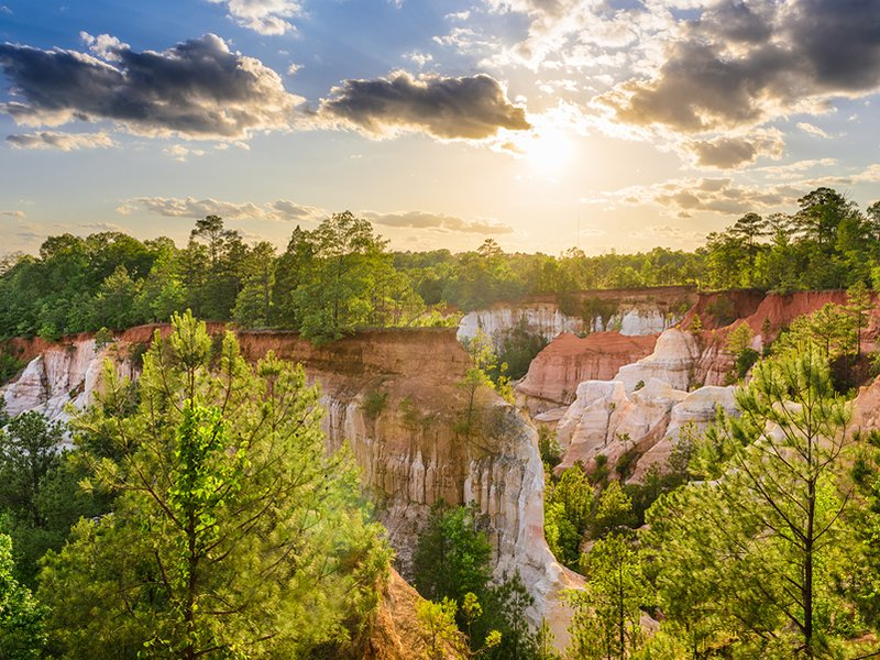 18 Best Places to Visit in Georgia  with Photos    TripsToDiscover Providence Canyon Providence Canyon