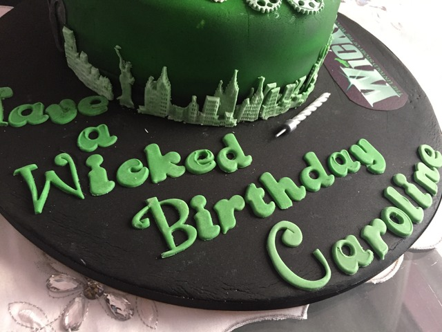 Wicked Birthday Cake Let S Go To The Movies