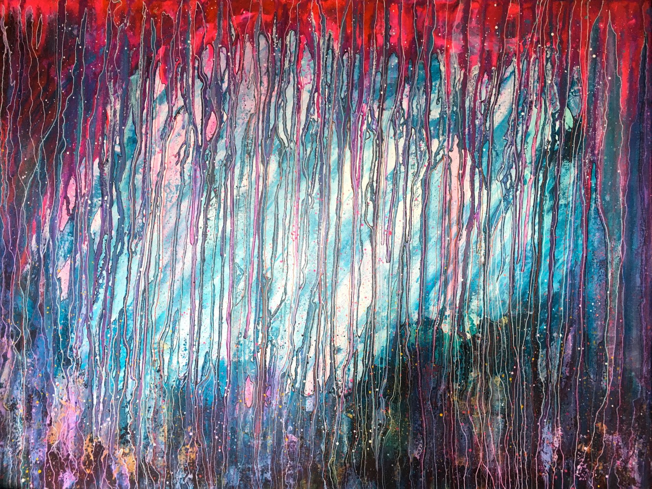 The complicated strings of life 60x80cm canvas, acrylics