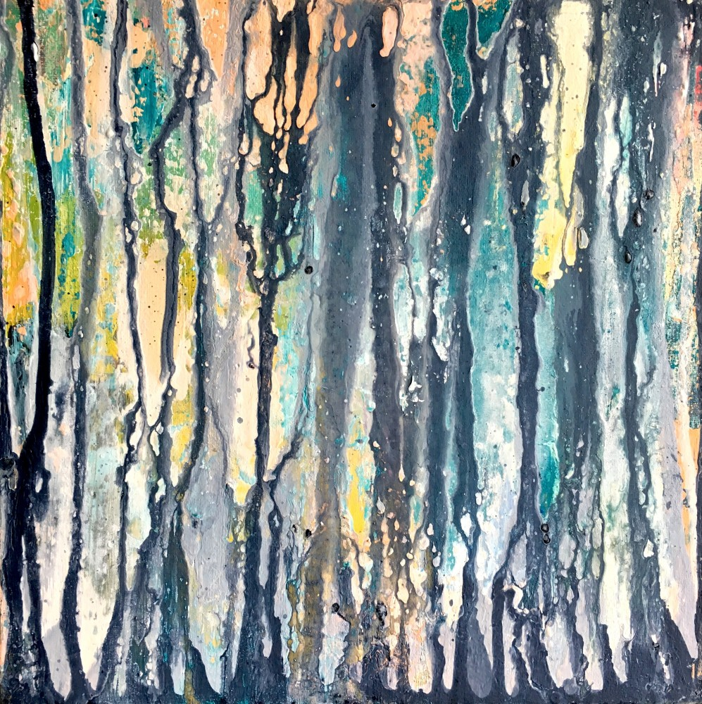 Don't loose the forest 30x30cm canvas, mixed media