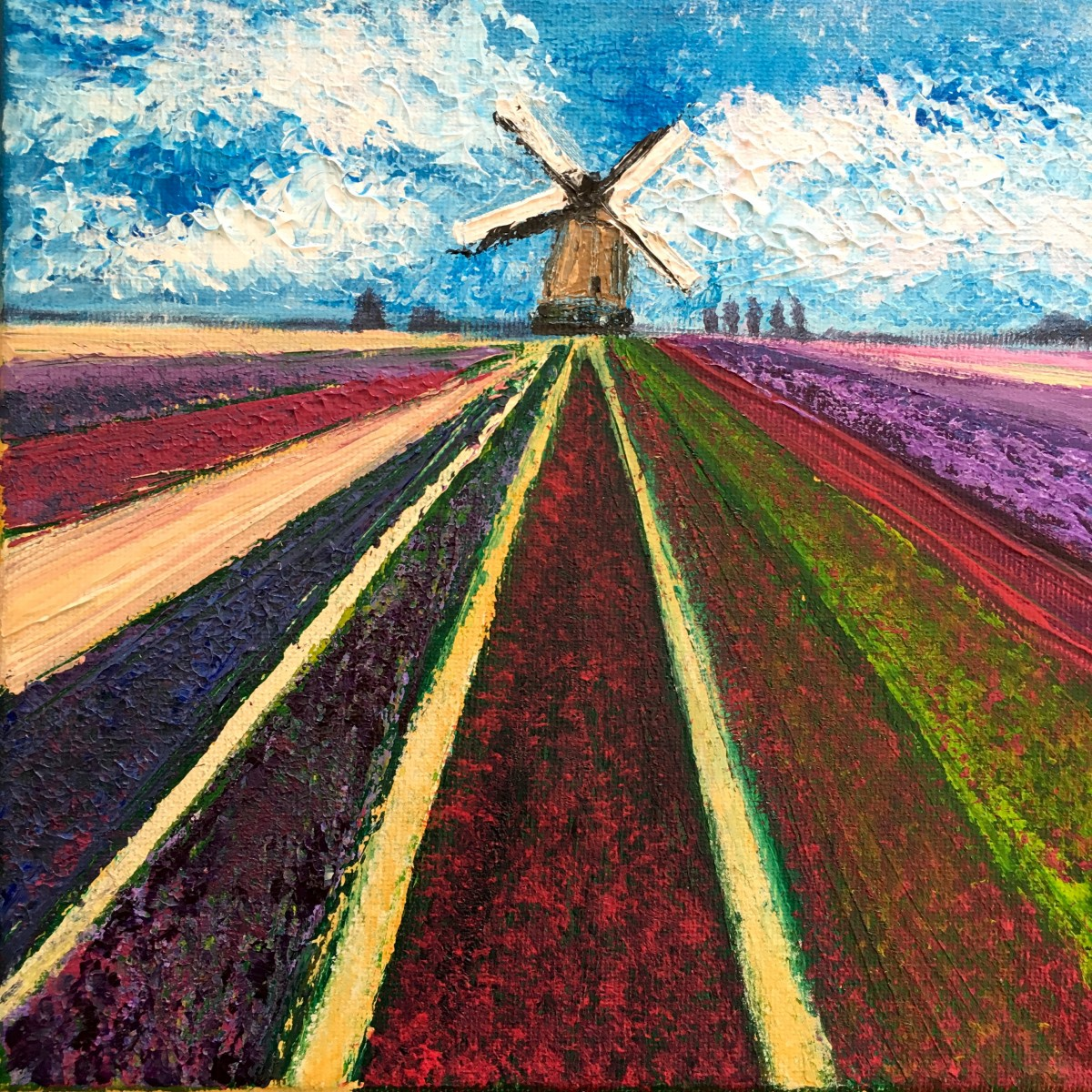 Spring in the Netherlands 20x20cm canvas, acrylics