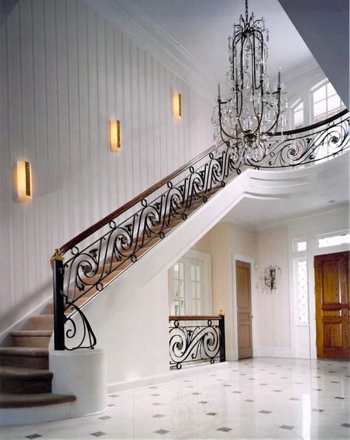 Interior Ironwork Finelli Ironworks | Custom Iron Stair Railing | Indoor | Steel | Metal | Curved | Ornamental