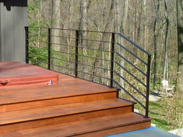 Exterior Ironwork Finelli Ironworks   Iron Handrails For Outdoor Steps   Antique   Deck   Front Door   Entrance   Ornamental