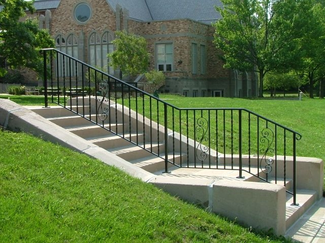 Exterior Ironwork Finelli Ironworks | Iron Handrails For Outside Steps | Railing Systems | Front Porch | Aluminum Railing | Deck Railing