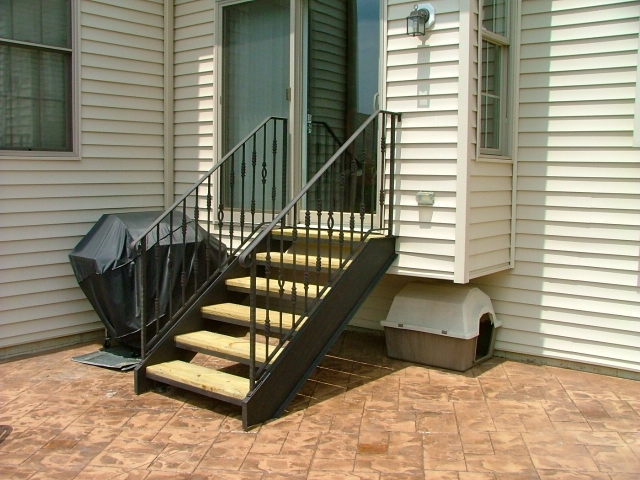Stairs Finelli Ironworks | Metal Stairs With Wood Treads | Straight Steel | Single Steel Stringer | I Beam | Metal Railing | Timber