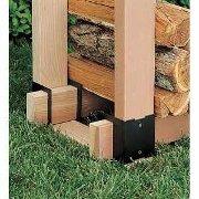 Firewood Rack Brackets - Simple Firewood Storage Rack Design