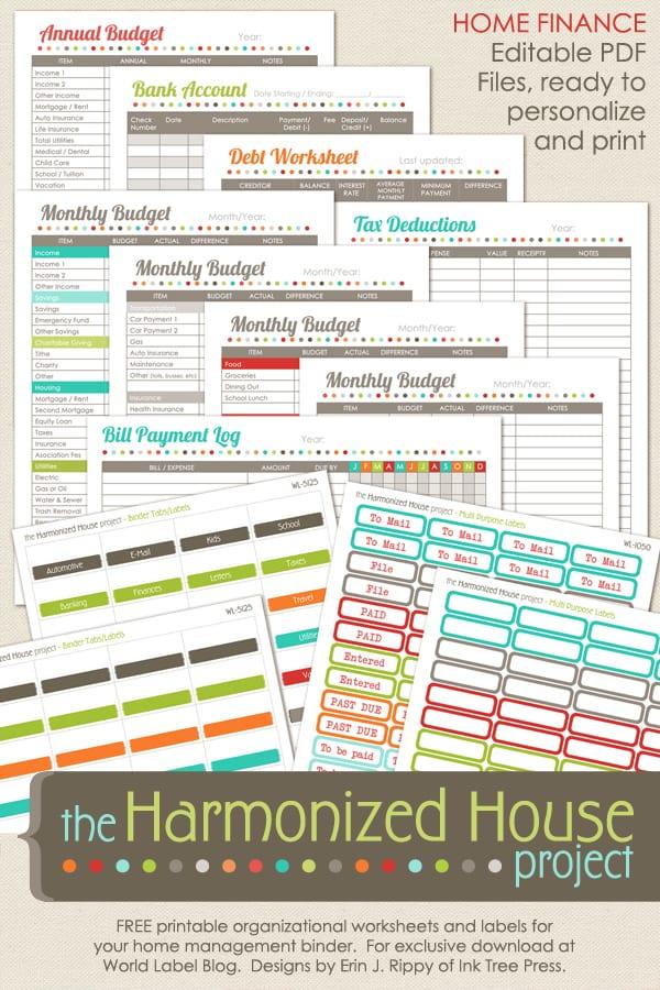 Set Budget Binder Ultimate Printable