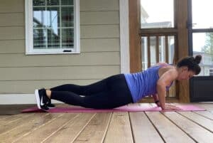 high plank with hip dips