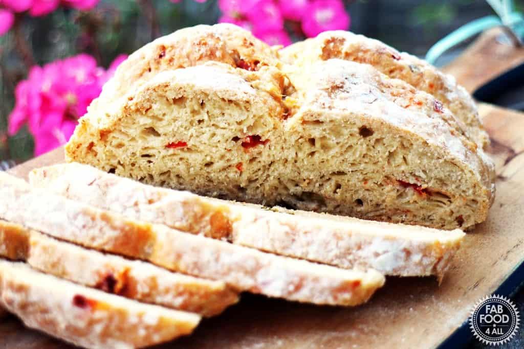 yeast free soda bread sliced