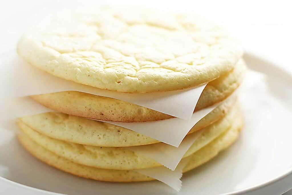 cloud bread stacked