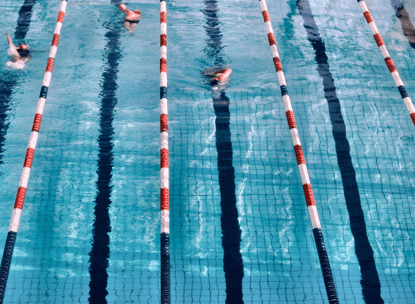 lanes roped off for swimming laps for weight loss