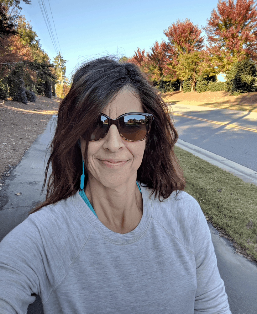lady walking outside for exercise