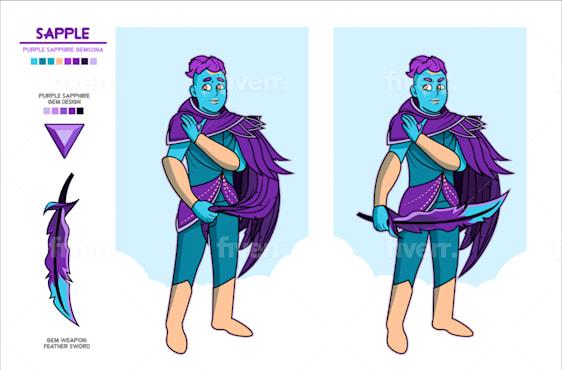 Gemsona Steven Sapphire Desigsn Universe