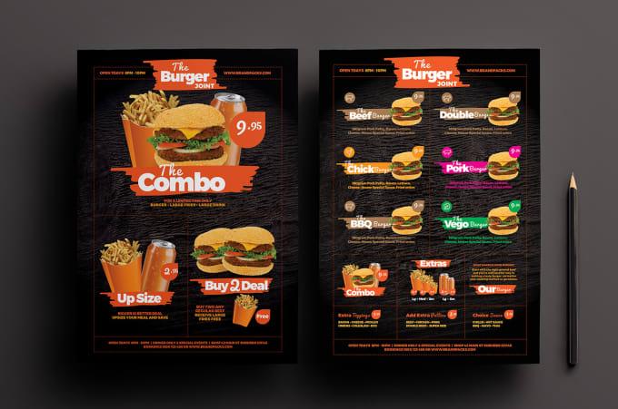 Fast Food Menu Pdf