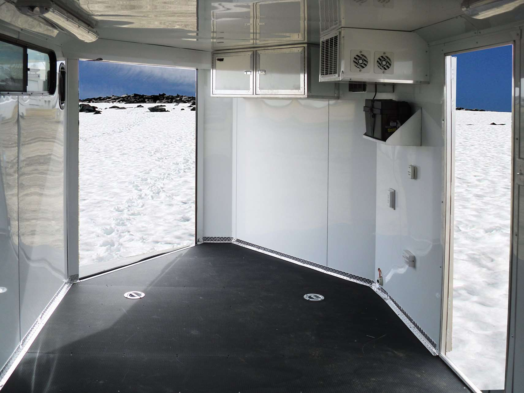 Enclosed Snowmobile Trailer Heated
