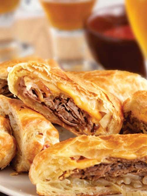 Philly Cheesesteak Rolls Recipe - Flavorite