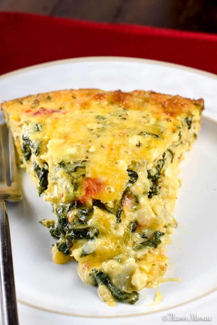 Crustless Spinach Quiche Flavor Mosaic