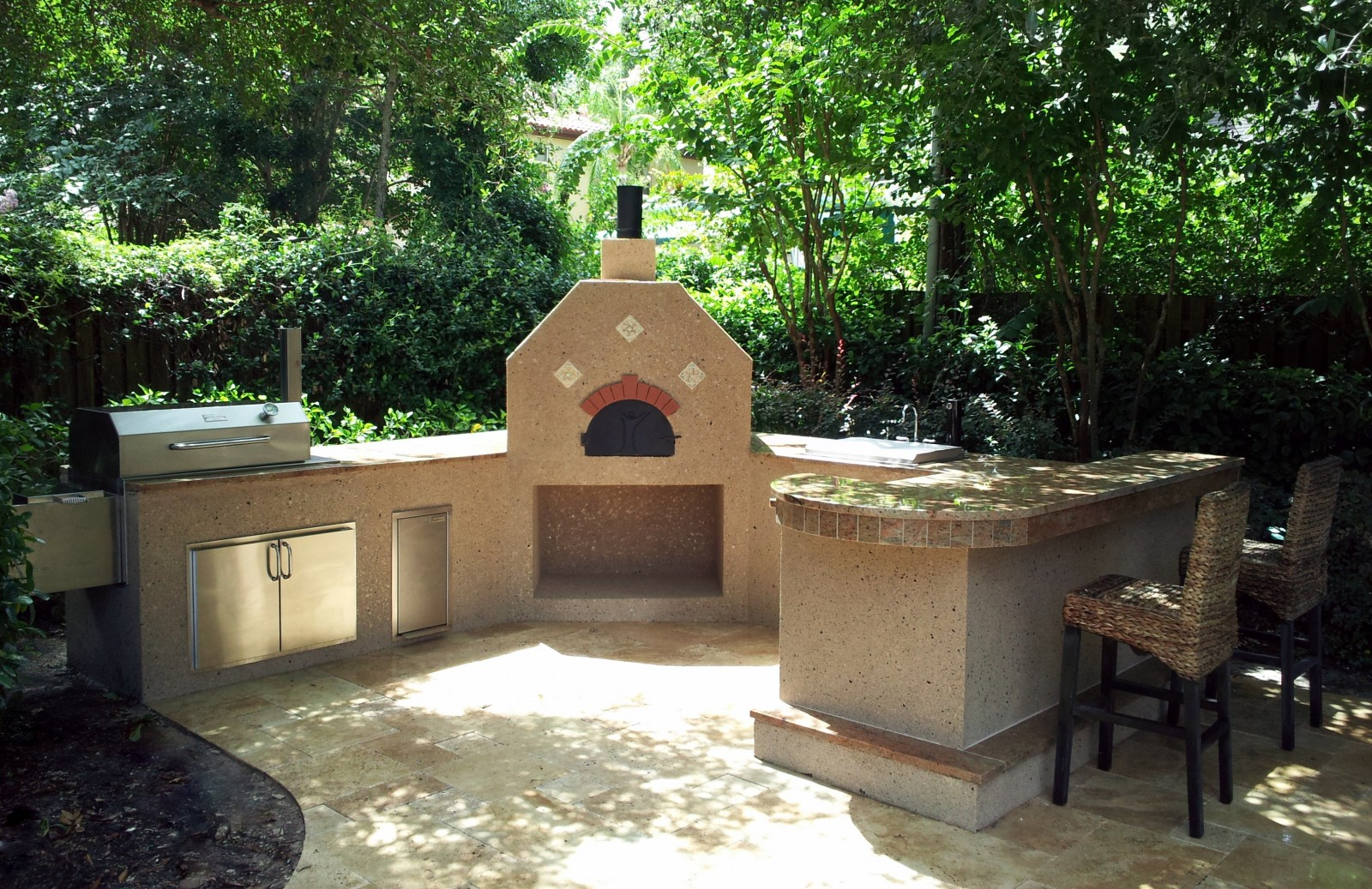 Charcoal Grills And Smokers Creative Outdoor Kitchens Of