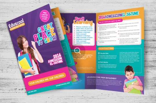 10 Awesome School Brochure Templates   Designs   sb 6