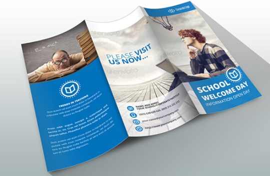 10 Awesome School Brochure Templates   Designs   sb 8
