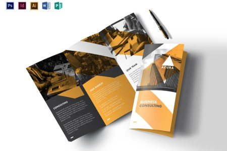12 High Quality   Printable Tri Fold Brochure Templates in All Formats   tri fold brochure template