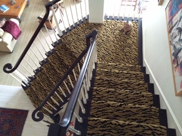 Stair Runner Animal Print Carpet Hemphill S Rugs Carpets   Leopard Carpet On Stairs   Zebra Print   Giraffe Print   Milliken   Patterned   Antilocarpa
