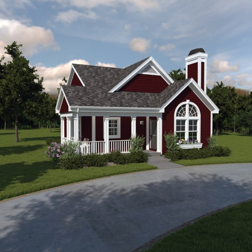 Springdale Country Cabin Home Plan 007D 0105   House Plans and More Stylish Home For A Narrow Lot