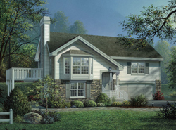 Bi Level Home Plans   House Plans and More a Traditional bi level home style