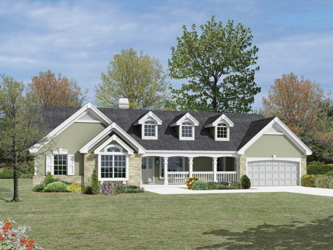 Foxridge Country Ranch Home Plan 007D 0136   House Plans and More Country Ranch With Dramatic Atrium Views